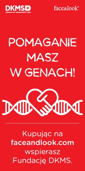 Pomaganie masz w genach. Kupując na faceandlook.com wspierasz fundację DKMS.