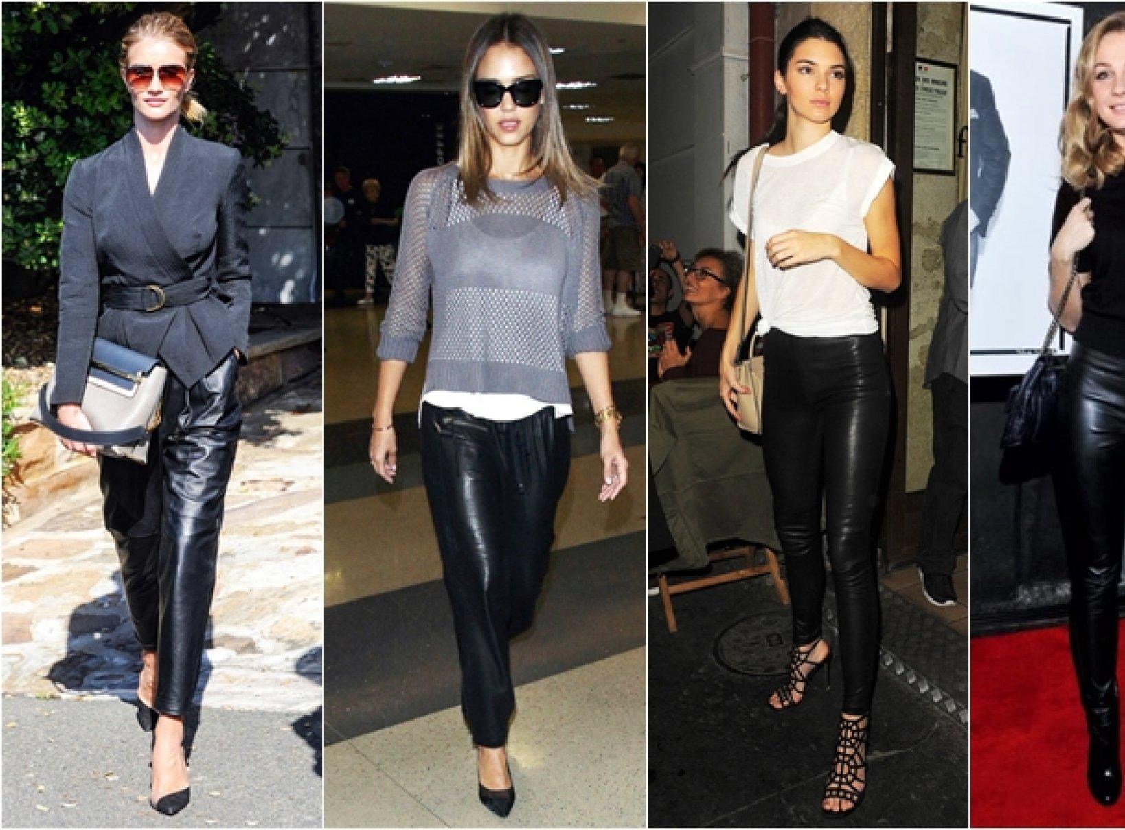 78c071e0ff351f Skórzane spodnie w stylizacjach gwiazd | Face&Look - Wybieraj mądrze ...
